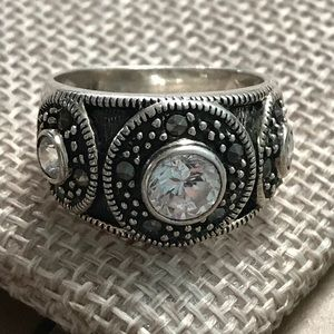 Marcasite Ring in Sterling Silver